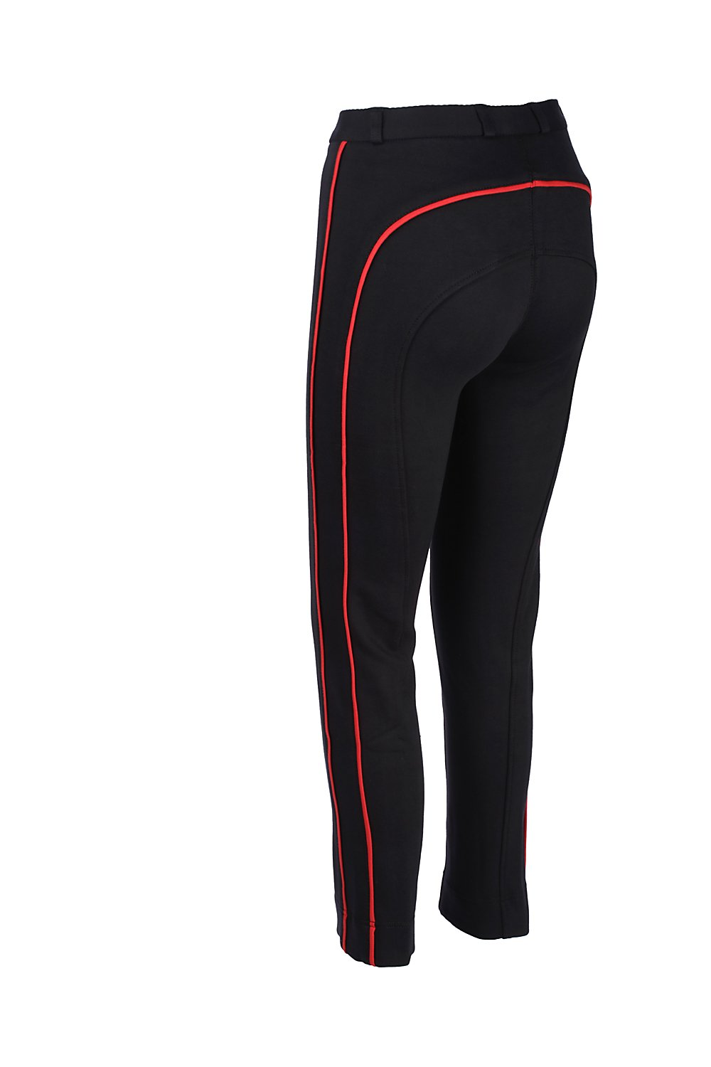 Discount Pet Accessories HORSE RIDING LADIES SOFT STRETCHY JODPHURS//JODHPURS JODS BLACK WITH RED PIPING
