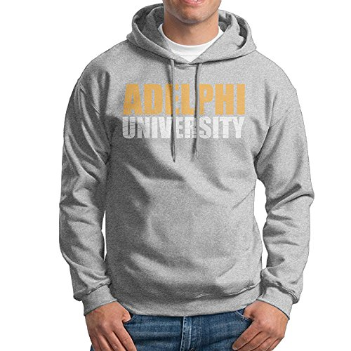 MARC Men's Adelphi University Hooded Sweatshirt Ash Size S