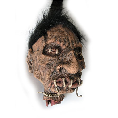 Large Shrunken Voodo Head Witch Doctor Hanging Halloween Prop 10