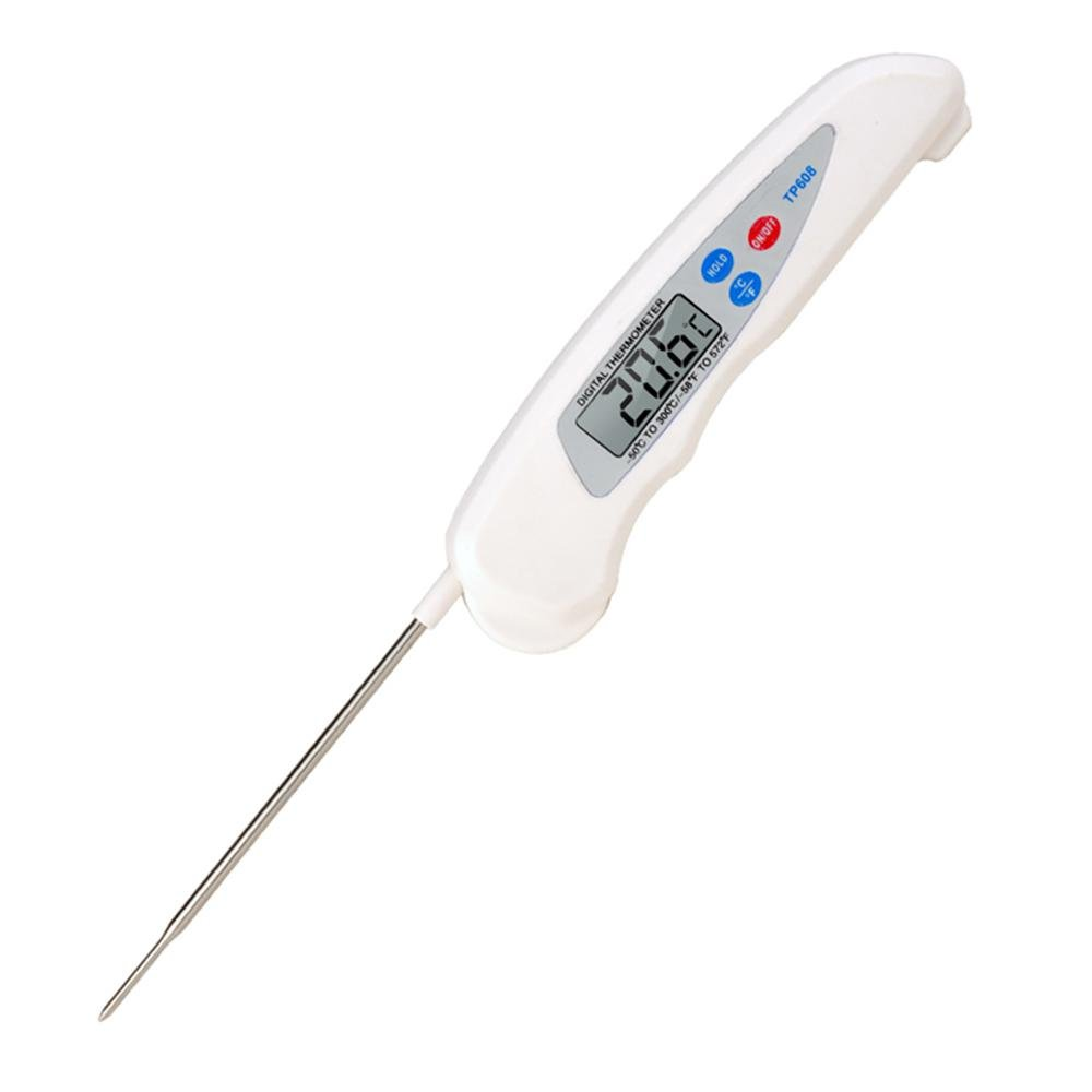 Candy Thermometer digital with clip, Teepao Digital Javelin chocolate Thermometer Instant Read Cooking Thermometer With Foldable Stainless Steel Probe For Baby Food Home Baking Grilling BBQ Kitchen