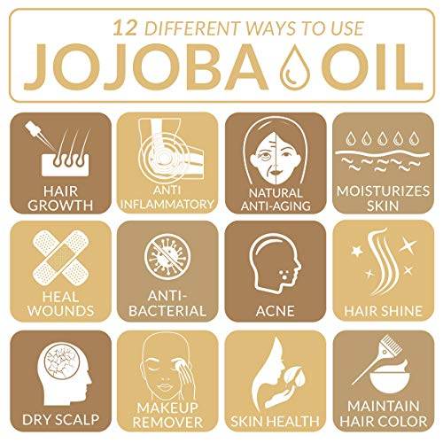 ArtNaturals USDA Certified Organic Jojoba Oil - (4 Fl Oz / 120ml) - 100% Pure Carrier Oil - Sensitive Skin - Benefits The Face Hair, Nails and Cuticle - Similar To Argan Oil
