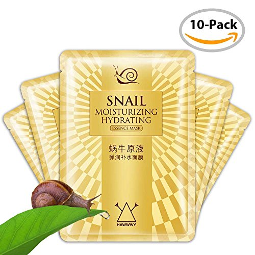 Snail Face Mask – Snail Sheet Masks – Anti-Wrinkle Face Mask – Repairs Cells, Reverses Sun Damage, Evens Skin Tone – by ()