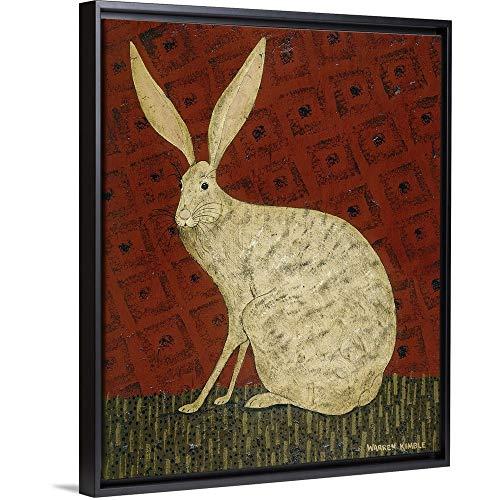 Hare Black Floating Frame Canvas Art, 18