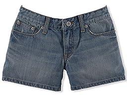 Ralph Lauren Girls 5-Pocket Jean Short (14)