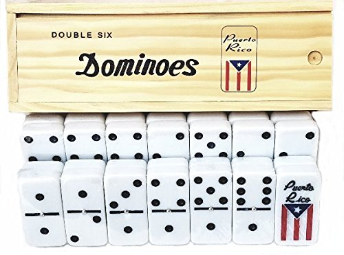 Puerto Rico Dominoes Puerto Rican flag Dominoes set, Boricua pride dominoes]()