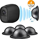 4 Pack Security Metal Magnetic Mount Wall Mount for Arlo, Arlo Pro, Arlo Pro 2, Arlo GO with Magnetic Base, Black