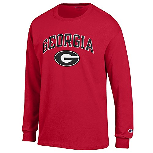 Elite Fan Shop Georgia Bulldogs Long Sleeve Tshirt Varsity Red Team - Large - Red Black