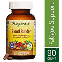 MegaFood - Blood Builder, Support for Healthy Iron Levels, Energy, and Red Blood Cell Production without Nausea or Constipation, Vegan, Gluten-Free, Non-GMO, 90 Tablets (FFP)