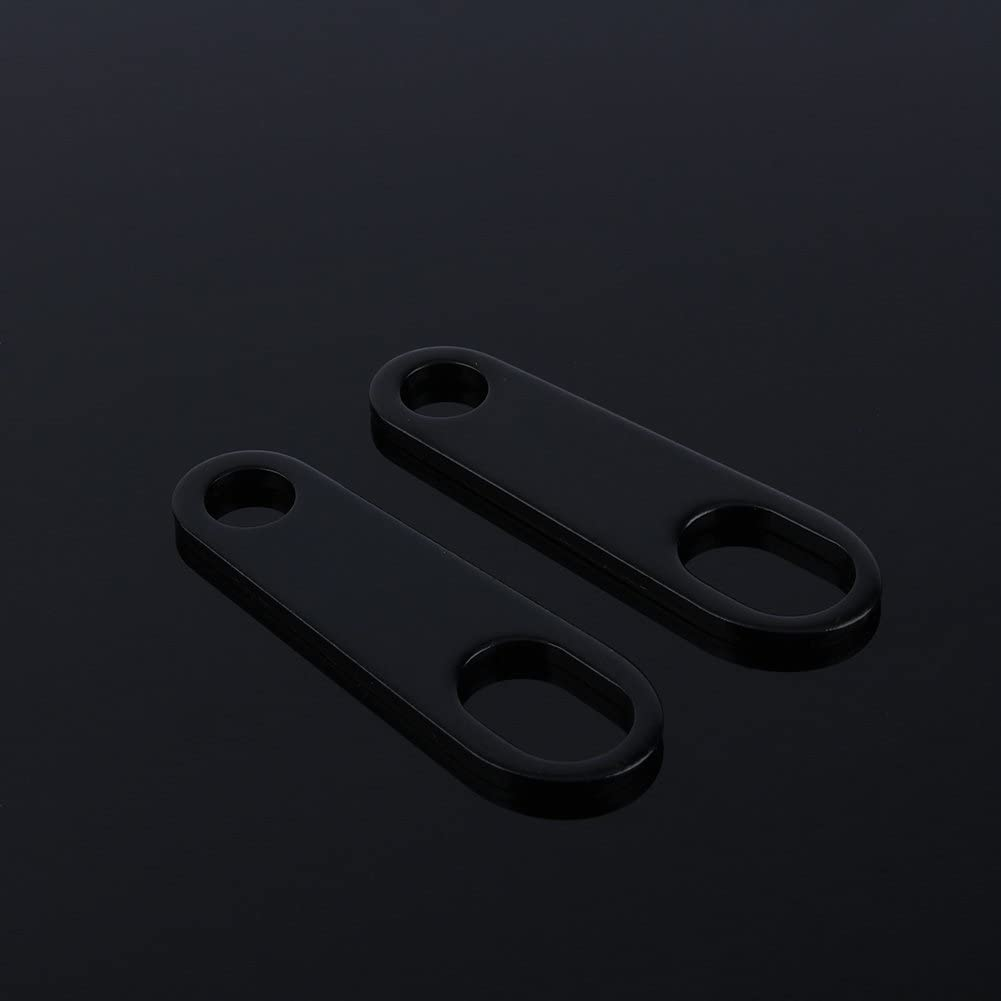 Cuque 1 Pair Fog Head Light Shock Brackets Metal Sliver for Motorbike Custom Bobber Cafe Racer XL