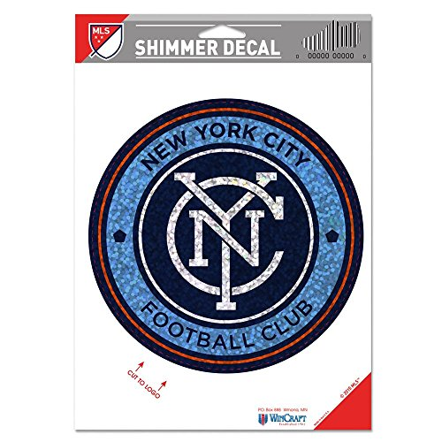 fan products of SOCCER New York City FC Shimmer Decals, 5 x 7
