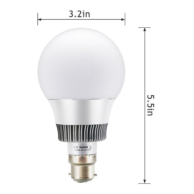 Bombillas Colores RGBW LED Bombilla Cambio de Color B22 10W Incluido Control Remoto para Ambiente Ambiance Iluminación Casa/Decoración/Bar/Fiesta/KTV: ...