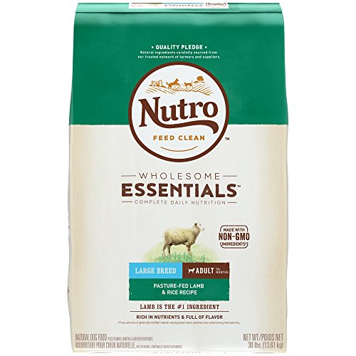 NUTRO WHOLESOME ESSENTIALS Large Breed Adult Pasture-Fed Lamb & Rice Recipe Dry Dog Food Plus Vitamins, Minerals & Other Nutrients; (1) 30-lb. (Canine Plus Chicken)