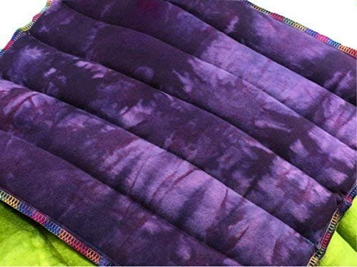 Hand-Dyed Organic Flax Seed Therapeutic Heating Pad and Cold Compress