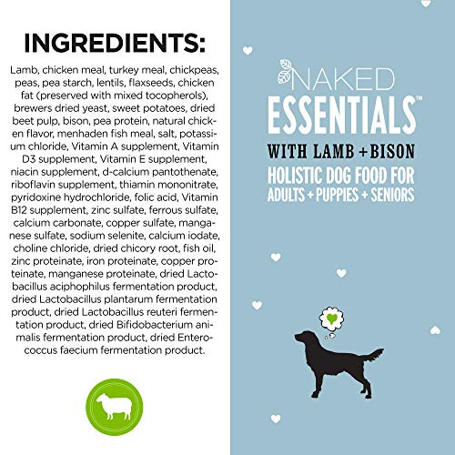 ''I and love and you'' Naked Essentials Lamb & Bison Grain Free Dry Dog Food, 40 LB by I and love and you (Image #5)