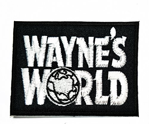 wayne's world Funny patch Motorcycles Outlaw Hog MC Biker Rider Hippie Punk Rock iron on Patch jacket vest cap sew iron on patch badge Patch Symbol Badge Cloth Sign Costume