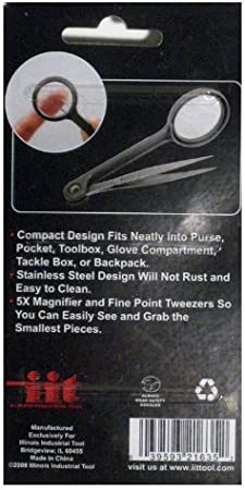 Tweezer with Magnifier Magnifying Glass Stainless Steel For Hobby First Kit Aid