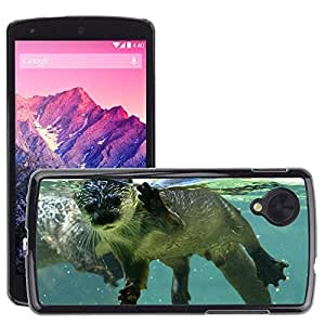 Hot Style Cell Phone PC Hard Case Cover // M00046224 wild otter animals water in // LG NEXUS 5