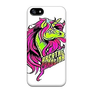 New Style Blowey Breathe Carolina Premium Tpu Cover Case For Iphone 5/5s