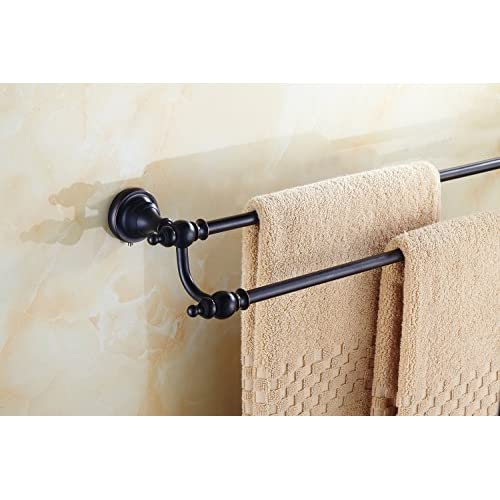 70%OFF Aothpher Wall Mounted Bathroom 24 Inch Double Towel Bar Rack Holder Oil Rubbed Bronze