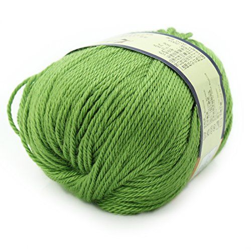 joylive Soft Wool Worsted Sweater Cashmere Knitting Knitted Warm Baby Yarn 50g Grass ()