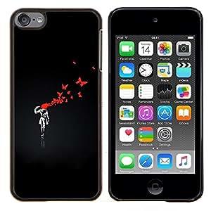 YiPhone /// Prima de resorte delgada de la cubierta del caso de Shell Armor - Divertido Street Art Graffiti Bnksy - Apple iPod Touch 6 6th Touch6