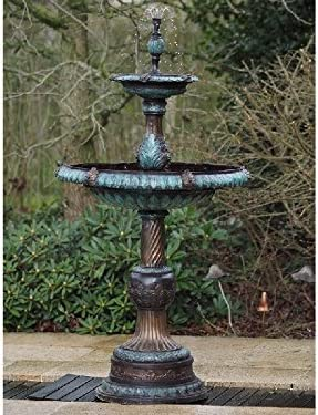 Thermobrass – Fuente de Bronce con Dos platillos, Fuente Decorativa, decoración de jardín: Amazon.es: Jardín