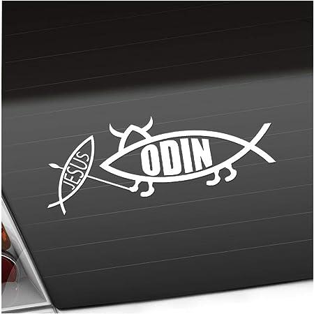 Odin Fisch 20 X 7 Cm In 15 Farben Neon Chrom Sticker Aufkleber Auto