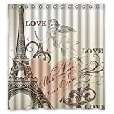Custom Waterproof Fabric Bathroom Paris Sex girl Shower Curtain Sets BY JackieTD 52'' x 84''