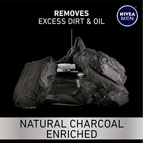 NIVEA Men Deep Active Clean Body Wash - 8-Hour Fresh Scent with Natural Charcoal - 16.9 Fl. Oz. Bottle (Pack of 3) 4