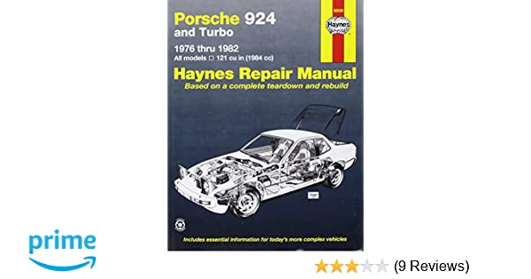 Porsche 924 7682 (Haynes Repair Manuals): Haynes: 0038345003974: Amazon.com: Books