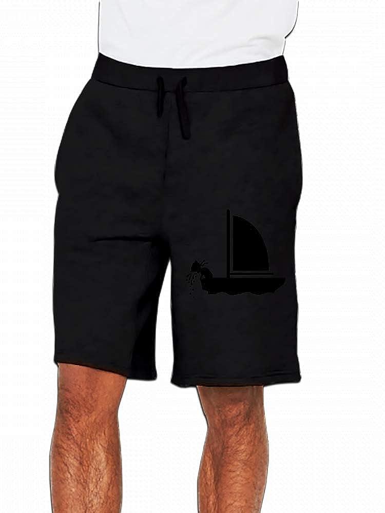 JiJingHeWang Seasick Mens Casual Shorts Pants