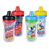 The First Years Disney Insulated Sippy Cup, Mickey and Cars, 9 Ounce (Color and design may vary)