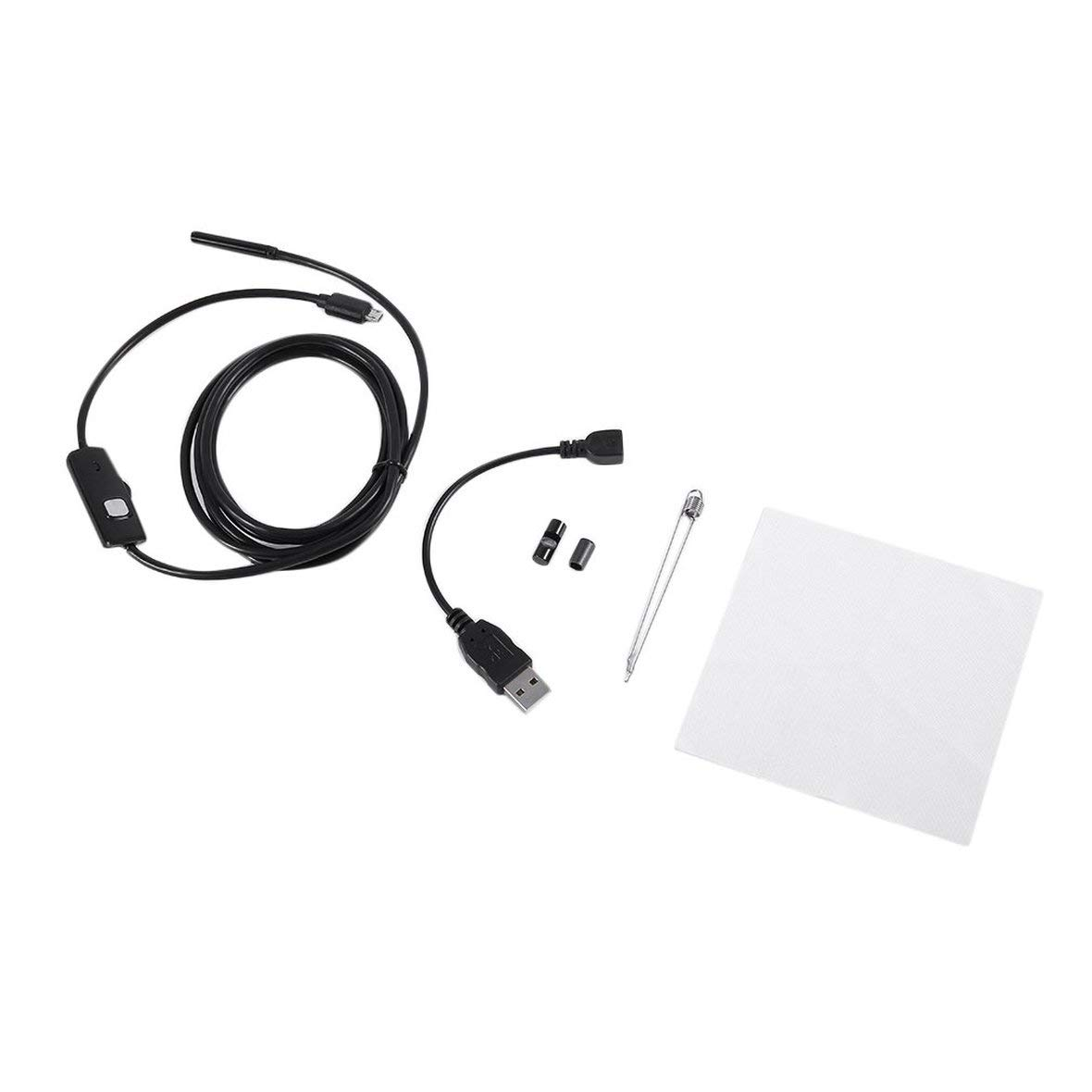Endoscope 720P de l'objectif 720P Heaviesk 2M 6LED 5.5mm Endoscope é tanche Inspection Endoscope pour Android Focus Camé ra USB Câ ble Endoscope é tanche