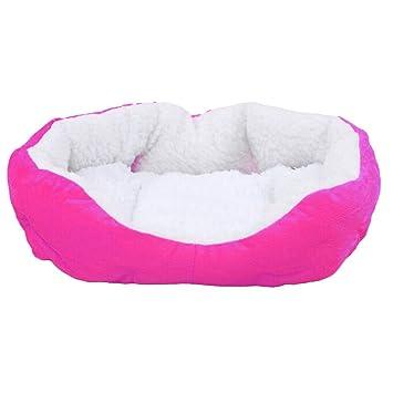 MING mascota perro cachorro gato suave Fleece cama casa para perro pequeño perro (gris,