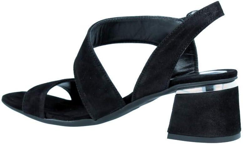 Alpe 4165 sandalen, leer, zwart Blanco Y Gris