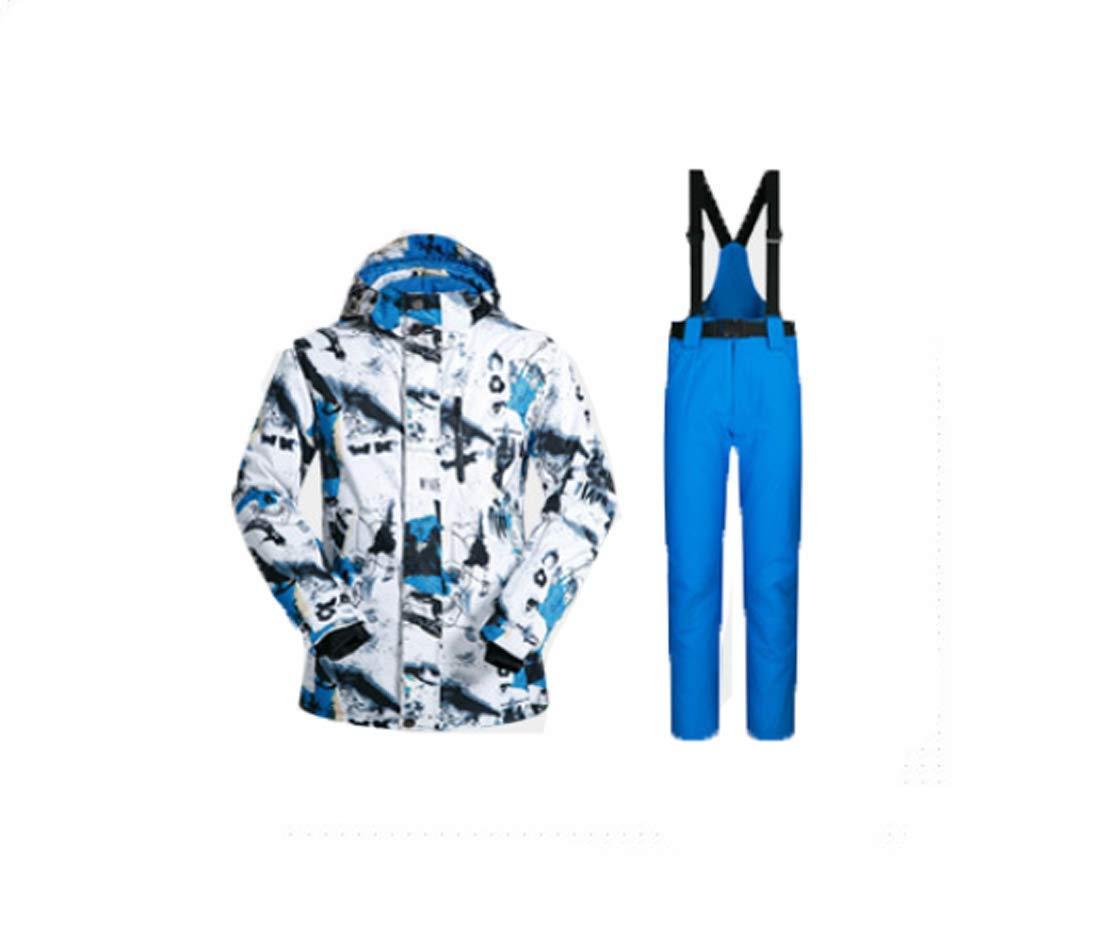 スキースーツ スキーウエア メンズ 上下セット 防水 スノーボードウェア ジャケット パンツ ズボン スノーボード ウィンタージャケット ウィンターパンツ スキー ウェア ウエア セットアップ ウィンターウェア 上着+ロイヤルブルー Large
