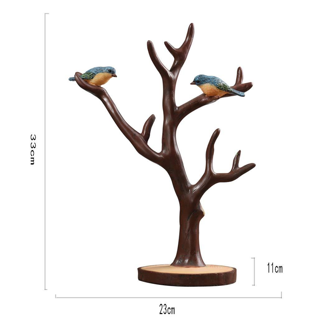 Jinxin-Home Décor Jewelry Rack-Resin Bird Branch Jewelry Jewelry Jewelry Jewelry Display Door Key Storage Ornaments Gifts 332311