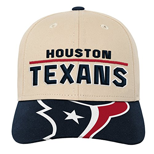 Outerstuff NFL NFL Houston Texans Youth Boys Retro Style Logo Structured Hat Deep Obsidian, Youth One Size