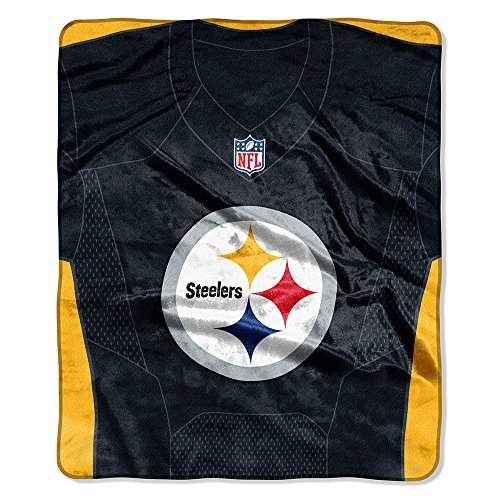 The Northwest Company NFL Pittsburgh Steelers Royal Plus Raschel Throw, One Size, Multicolor ()
