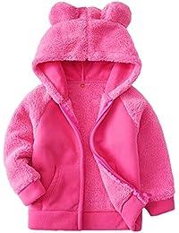 a8cc08fcf4c0c Bear Ears Shape Fleece Warm Hoodies Clothes Toddler Zip-up Light Jacket  Sweatshirt Outwear for