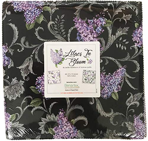 - Jackie Robinson Lilacs in Bloom 10X10 Pack 42 10-inch Squares Layer Cake Benartex