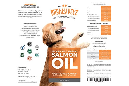 Mighty omega 3 6 wild alaskan salmon fish oil for dogs and for Fish oil for dog allergies