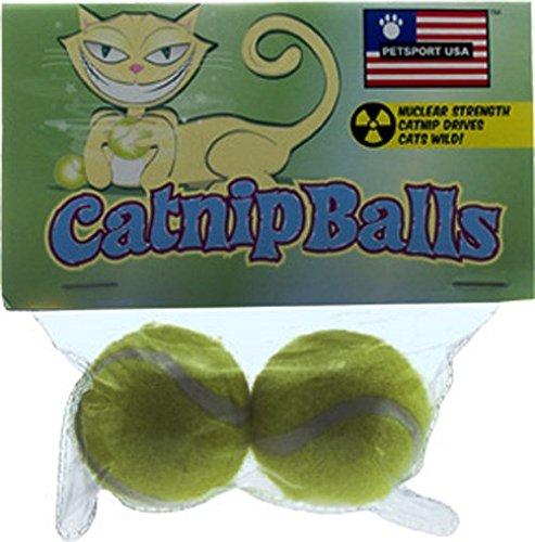 Petsport USA 70019 Catnip Balls 2 Count (Petsport Balls Cat)