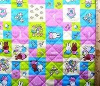 <Qキャラクター・キルティング生地>ミッフィー(ミフィー・ミィフィー) (パープル/ブルー)#21の商品画像