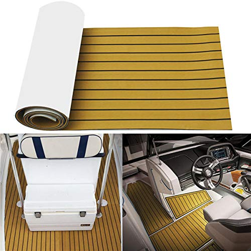 Anddoa EVA Foam Deep Yellow with Black Strip Boat Flooring Faux Teak Decking Sheet Pad - #001 by Anddoa (Image #7)