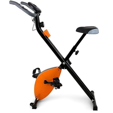 BAKAJI Bicicleta estática Plegable magnético con Pantalla Digital LCD para Fitness y Gimnasio Bicicleta Sport Salvaspazio para casa y Oficina: Amazon.es: ...