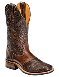 Boulet Western Boots Womens Cowboy Leather Dankan Brown Chestnut 2050
