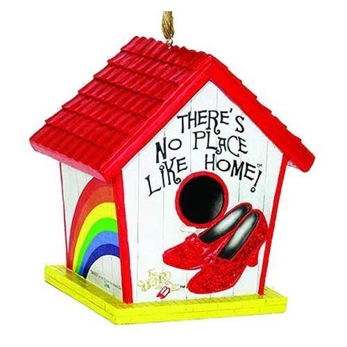 Place Like Wizard Home - Wizard Of Oz Theres No Place Like Home w/ Ruby Slippers Decorative Birdhouse by Spoontiques