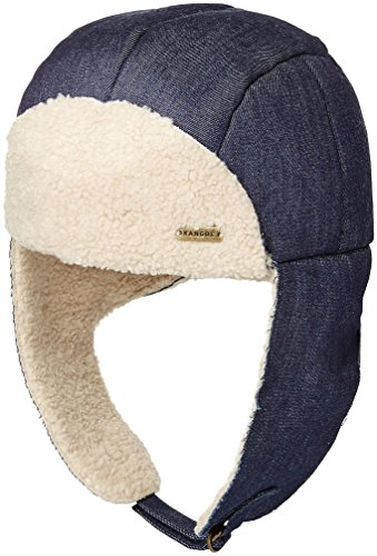 Kangol Men's Faux Shearling Aviator Hat, Denim, M