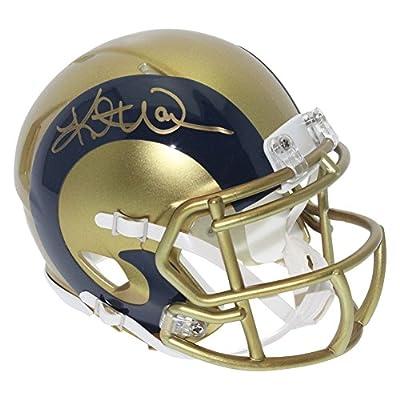 Kurt Warner St. Louis Rams Autographed Blaze Alternate Mini Helmet - JSA Authentic